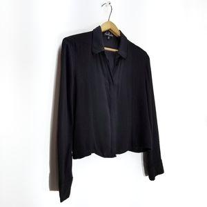 Talula | Aritzia Long Sleeve Button-Up Crop Blouse